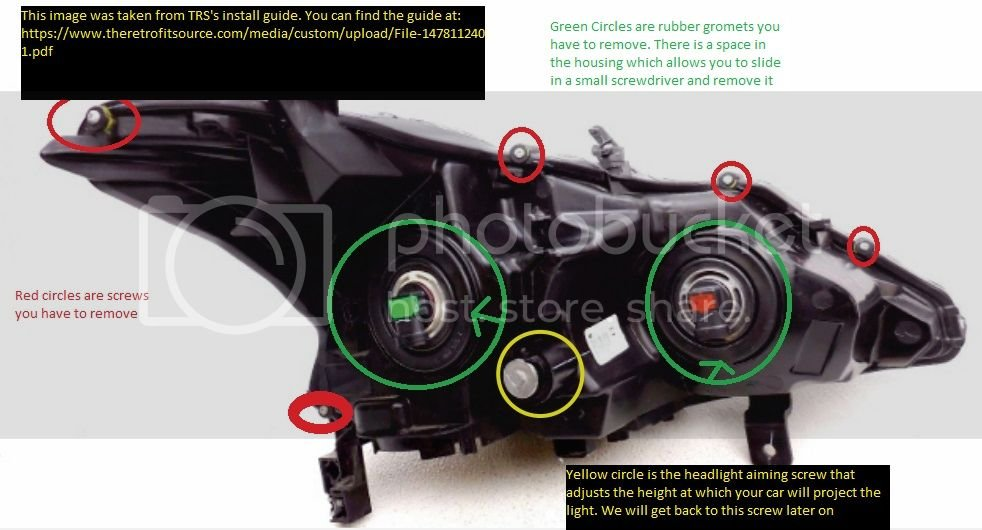 2014 Altima Projector Swap to TRS H1 DIY   Nissan Forums